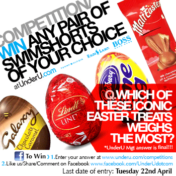 Chocolate Easter Competition - Win any pair of Swim Shorts