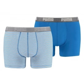 2-Pack Striped Boxer Briefs, Royal Blue