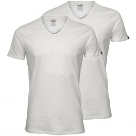 2-Pack V-Neck T-Shirts, White