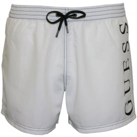 Retro Logo Swim Shorts, White