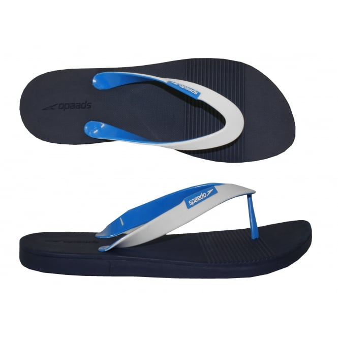 Speedo Saturate II Thong Flip Flops, Navy Blue / White
