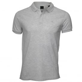 Classic Pique Polo Shirt, Light Grey Melange