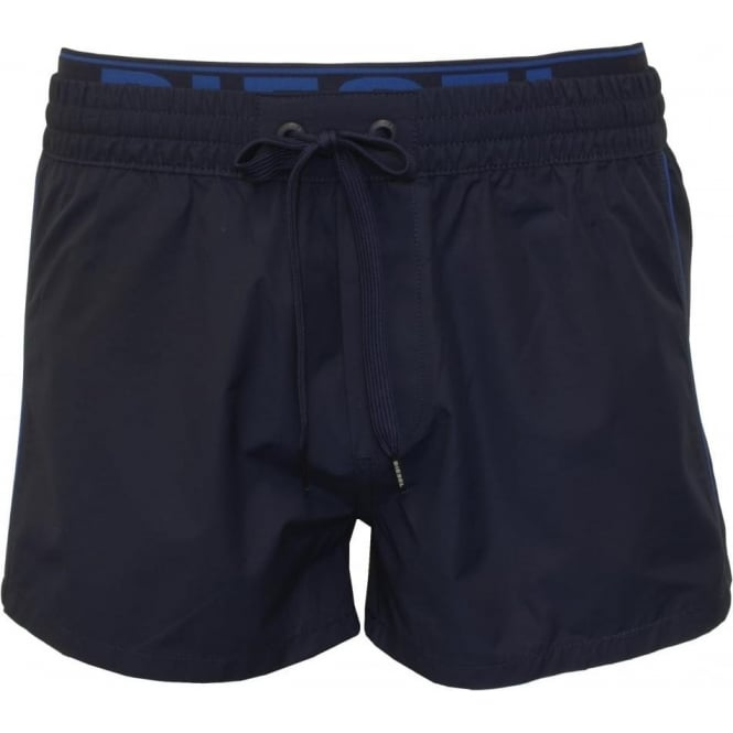 Diesel Seaside Swim Shorts with Double-waistband, Navy/Blue
