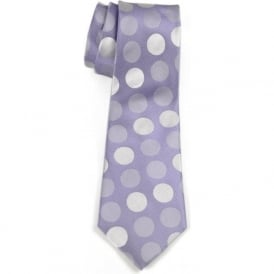 Large Spotlights Silk Tie, Lilac