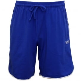 Single Jersey Tracksuit Shorts, Royal Blue with grey marl