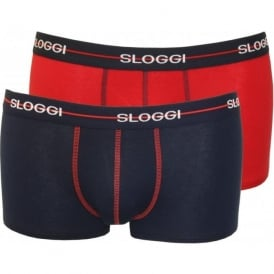 2-Pack Start Hipster Boxer Trunks, Navy/Red