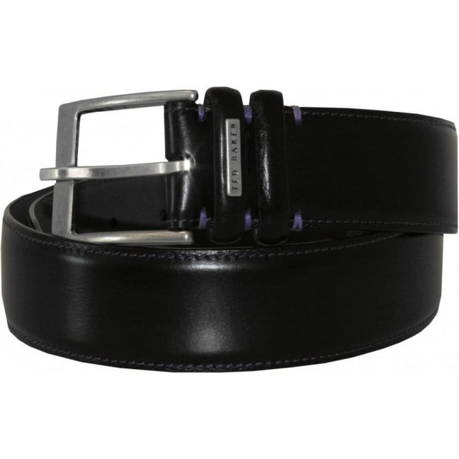 Ted Baker Smart Leather Belt, Black