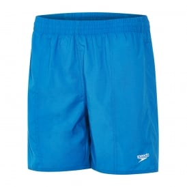 Solid Leisure Swim Shorts, Danube Blue