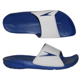 Atami II Pool Slider Sandals, Royal Blue / White