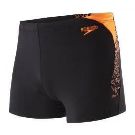 Endurance+ Boom Splice Aqua Short, Black/Orange