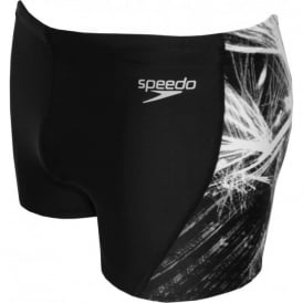 Endurance+ Placement Curve Panel Aqua Short, Black/Grey