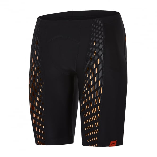 Speedo Speedo-Fit Endurance+ PowerMesh Pro Jammer, Black/Orange