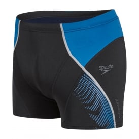 Speedo-Fit Pinnacle Aqua Short, Black / Danube Blue
