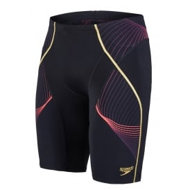 Speedo-Fit Pinnacle Jammer, Black / Psycho Red / Gold