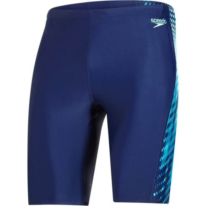 Speedo Placement Curve Panel Endurance10 Jammer, Navy / Green Glow / White