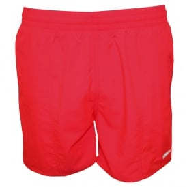 "Solid Leisure 16"" Swim Shorts, Psycho Red"
