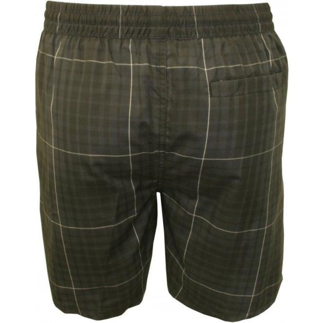 Speedo Men/'s Grey Check Quick Dry Leisure 18-Inch Swimming Trunks Leisure Shorts