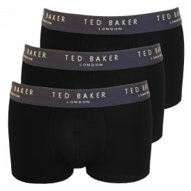 3-Pack Boxer Trunks, Black
