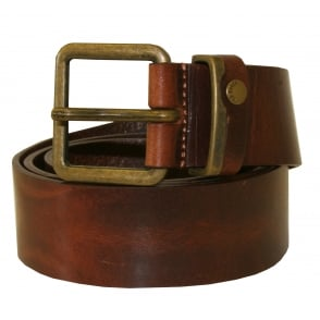 Casual Leather Jeans Belt, Tan