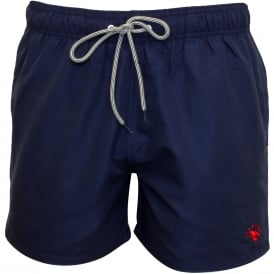 Classic Swim Shorts, Navy with red contrast