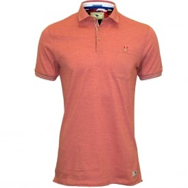 Fine Stripes Relaxed Polo Shirt, Red