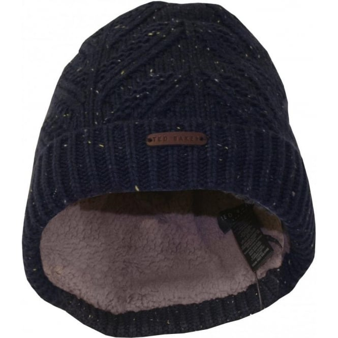 d97e674e8db Ted Baker Fisherman s Rib Fleece Lined Beanie Hat
