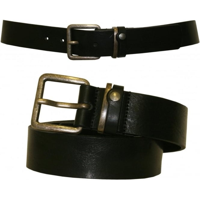 Ted Baker Katchup Casual Leather Jeans Belt, Black