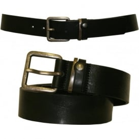 Katchup Casual Leather Jeans Belt, Black
