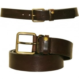 Katchup Casual Leather Jeans Belt, Chocolate Brown