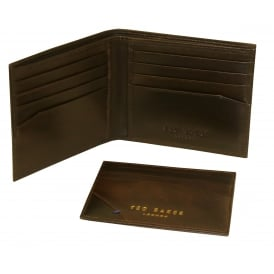 Leather Wallet & Cardholder Gift Set, Chocolate