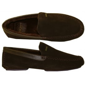 Moriss 2 Suede Moccasin Slippers, Brown