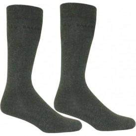 Plain 2-Pack Charcoal Socks