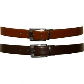 Smart Leather Reversible Belt, Tan / Chocolate