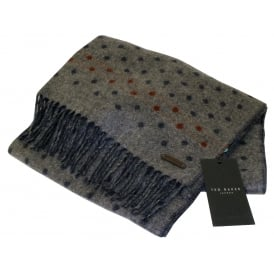 Spotted Pattern Scarf, Grey Marl