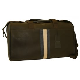 Striped Webbing Holdall Bag, Chocolate