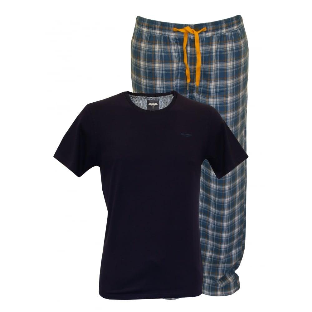 Ted baker t shirt bottoms pyjama set navy blue underu for Ted baker shirts sale online