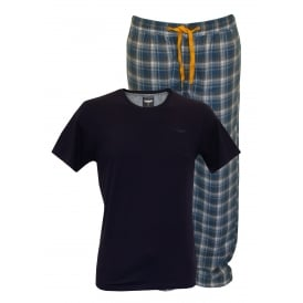 T-Shirt & Bottoms Pyjama Set, Navy/Blue