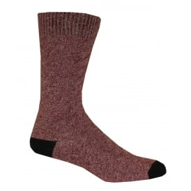Twisted Texture Boot Sock, Burgundy