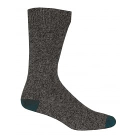 Twisted Texture Boot Sock, Charcoal