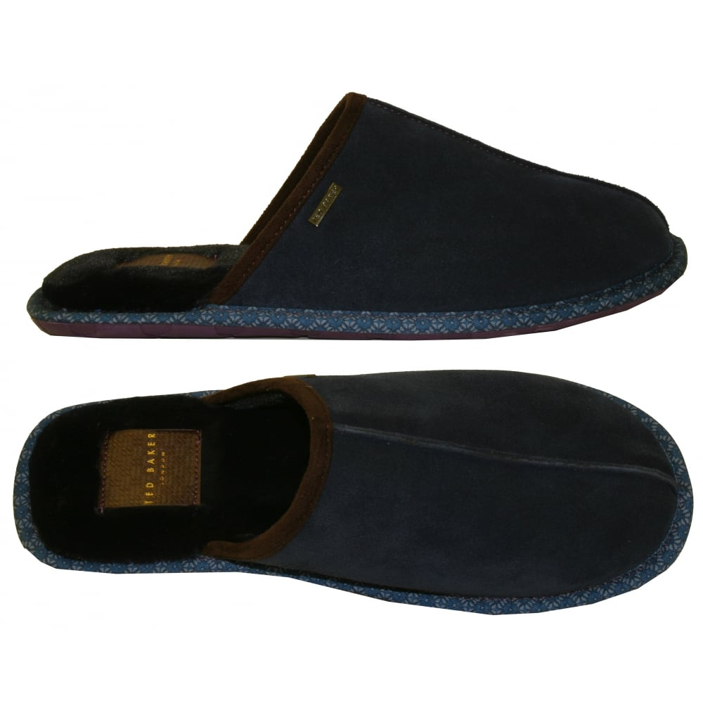 TED BAKER Men/'s Brown Youngi 2 Suede Slippers Size UK 9