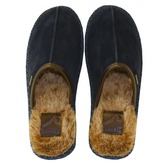 Ted Baker Youngi Suede Slip-on Slippers, Dark Blue