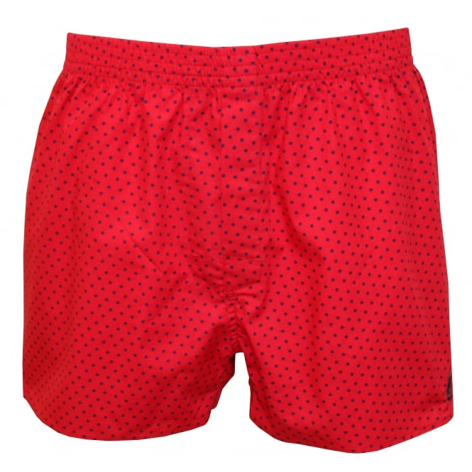 Thomas Pink Hockney Spots Woven Boxer Shorts, Pink with Blue