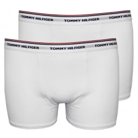 2-Pack Classic Logo Boys Boxer Trunks, White