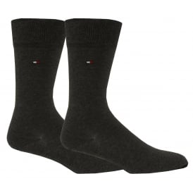 2-Pack Classic Socks, Anthracite Melange