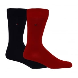 2-Pack Classic Socks, Red/Navy