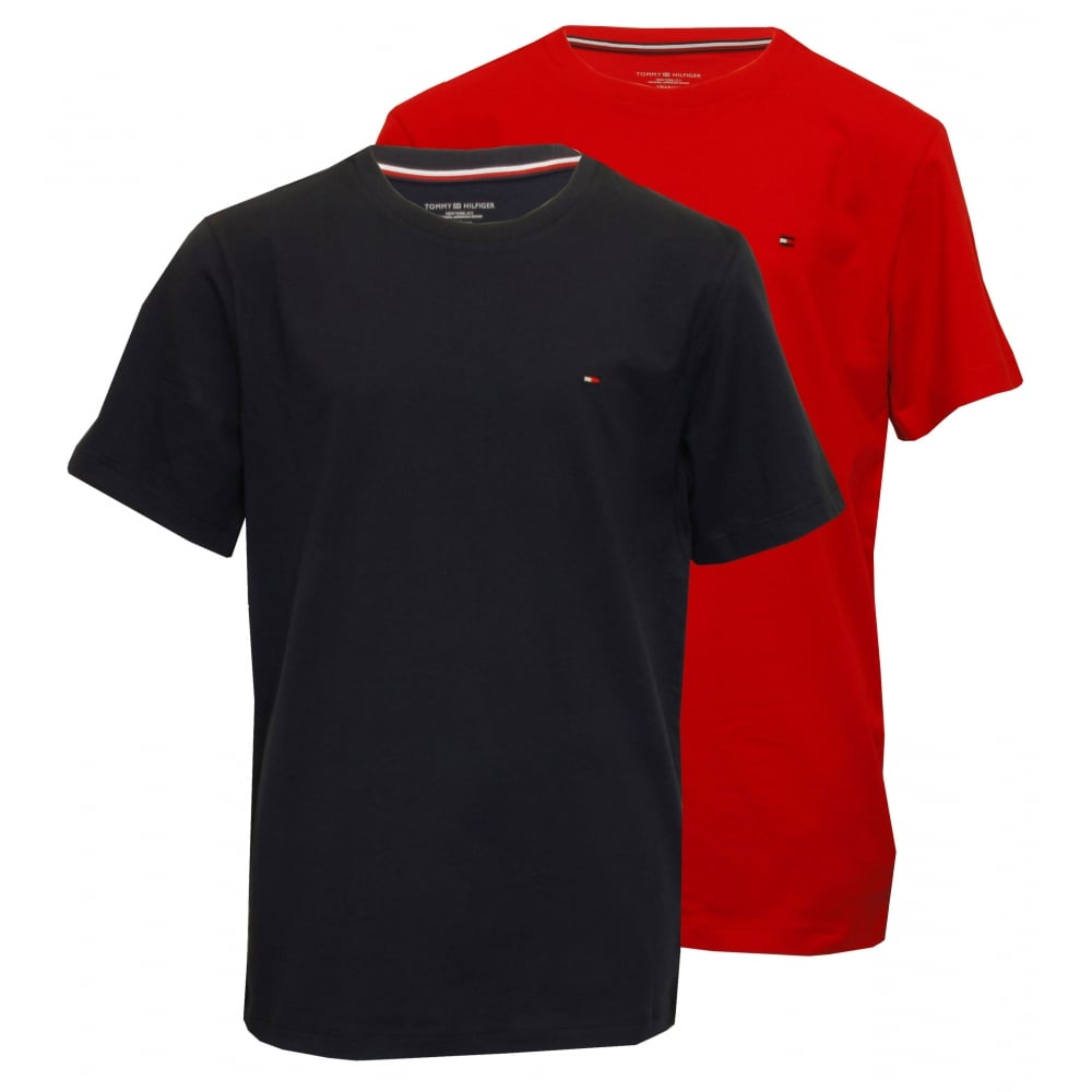 c0ccc5e1 Tommy Hilfiger Boys 2-Pack Icon Cotton Crew-Neck T-Shirts, White/Red ...