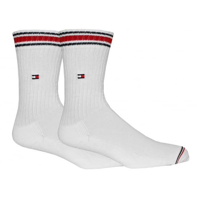 Tommy Hilfiger 2-Pack Iconic Sports Socks, White