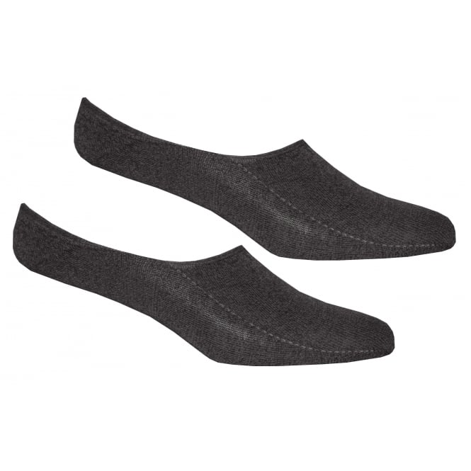 Tommy Hilfiger 2-Pack Invisible Shoe-Liner Socks, Anthracite Melange