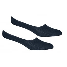 2-Pack Invisible Shoe-Liner Socks, Jeans Blue