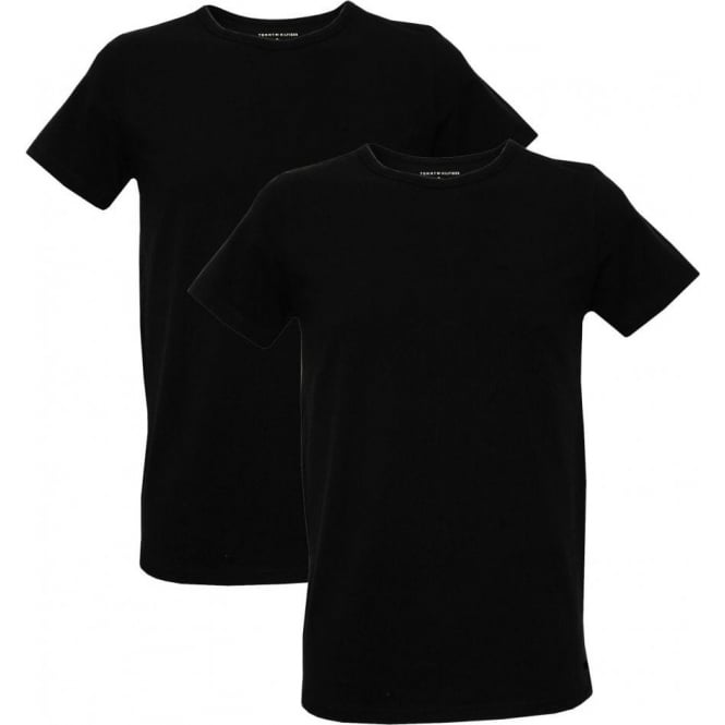 Tommy Hilfiger 2-Pack Pure Cotton Crew-Neck T-Shirts, Black